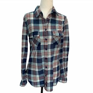 Urban Heritage🌸Flannel Plaid Button UP Shirt S